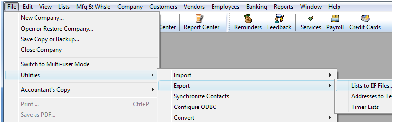 QuickBooks Interface for Almyta Control System